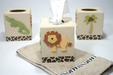 jungle tissue box
