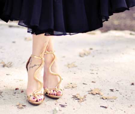 diy-snake-sandals-gold-shoes