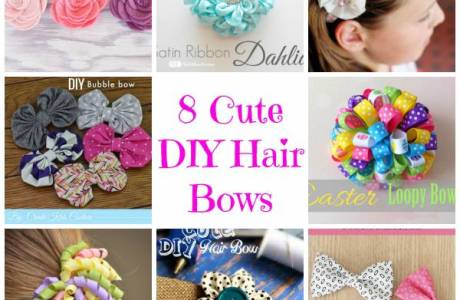 8 Cute DIY Hair Bows