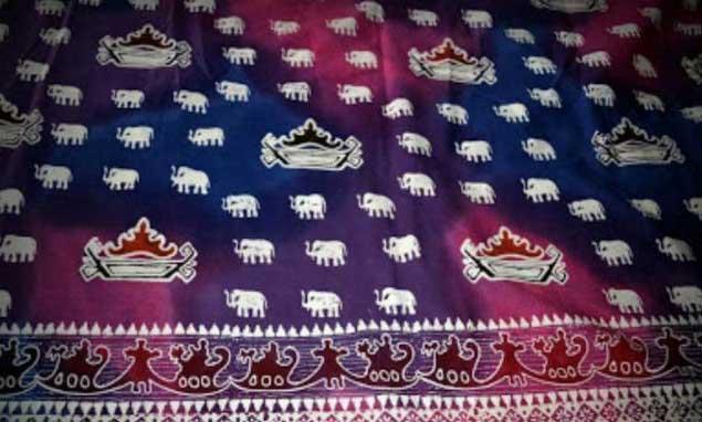 elephant design from batik lampung