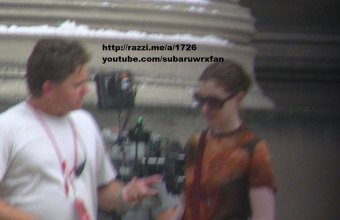 Anne Hathaway on set of The Dark Knight Rises