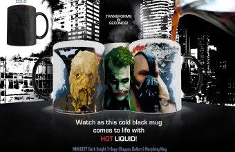MMUG017 Dark Knight Trilogy (Rogues Gallery) Morphing Mug ADVERT