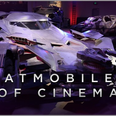 Get up close with the 'Batman v Superman' Batmobile and the others that came before it (video)
