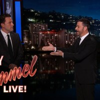 Watch Ben Affleck introduce the new 'Batman v Superman' trailer on Jimmy Kimmel Live in a funny skit