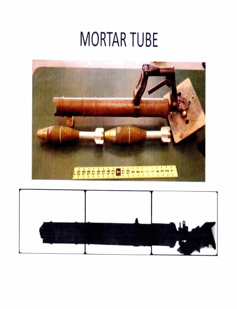 This image depicts how the mortar rounds were double-loaded inside the tube, causing the blast. Via Navy Expeditionary Combat Command.