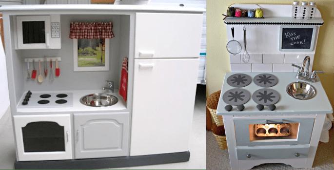 Móveis viram brinquedos – 6 Cozinhas feitas com móveis antigos