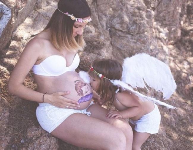pintura corporal - barriga de grávida