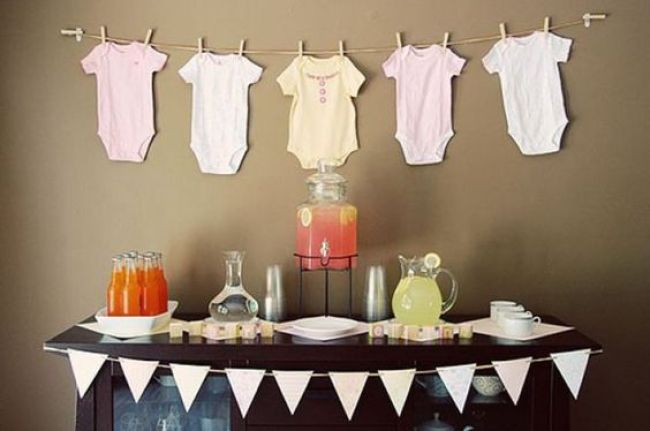 varal roupas chá de bebê