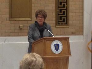 photo at podium