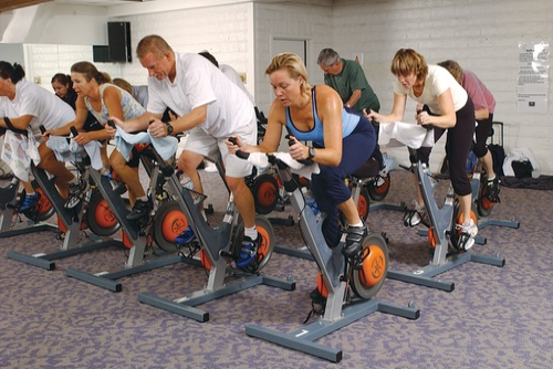 Image of people participating in a Y adult fitness program
