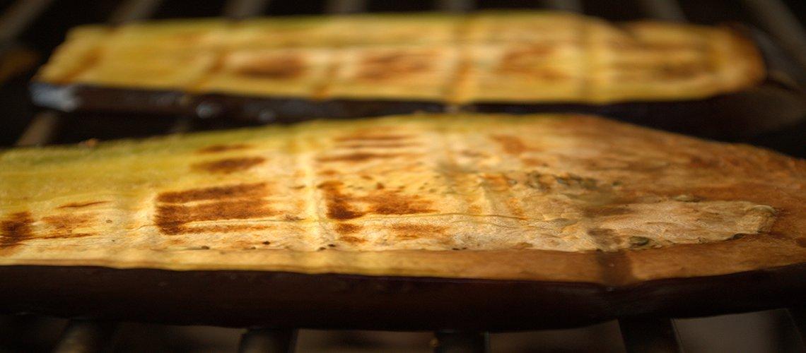 Aubergine bbq barbecue van de grill