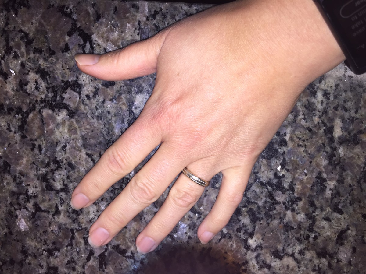 Today I put my wedding ring on   BC Becky