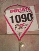 Min första cykelmedalj!