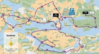 Bansträckning 42km Sthlm Bike 2012