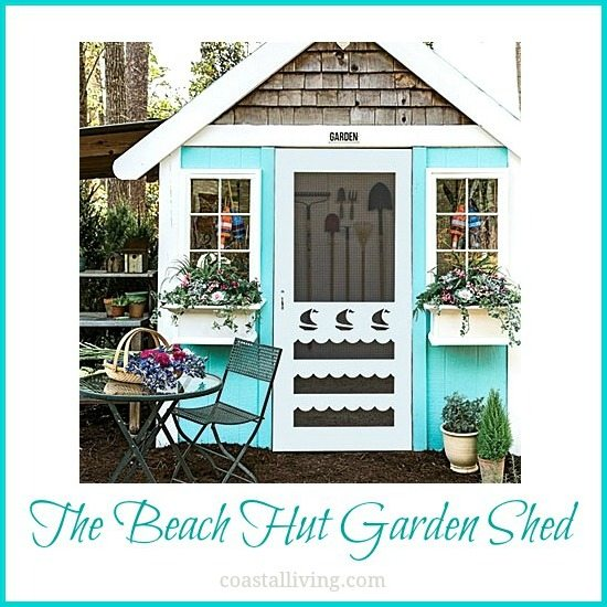 The beach hut garden shed beach bliss living for Storage huts for garden