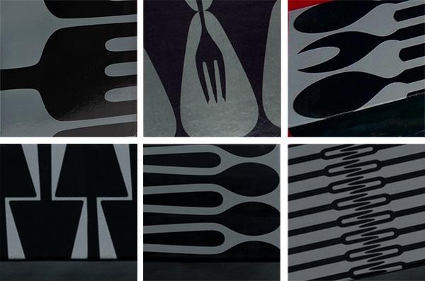 Alessi-Patterns flatware patterns package design