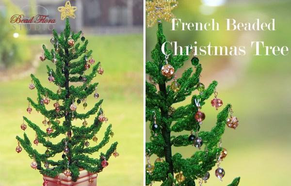 French beaded Christmas tree kit