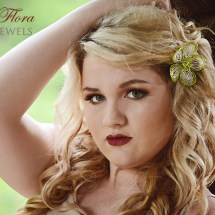 French beaded fantasy flower hair clip, Bead Flora and Jewels, Bead Flora Studio, Fen Li