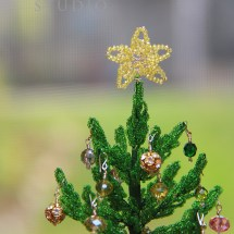 French beaded Christmas tree by Bead Flora Studio