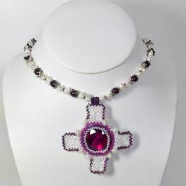 Tudor Necklace Patter, Katie Dean, Beadflowers
