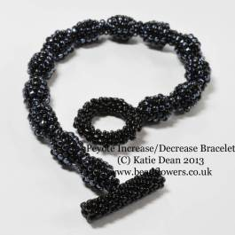 Beginner's Peyote Increase Decrease Bracelet Pattern by Katie Dean, Beadflowers