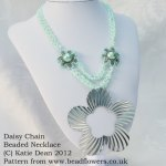 Daisy Chain Beaded Necklace Pattern, Katie Dean, Beadflowers