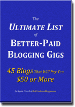 The Ultimate List of Better-Paid Blogging Gigs - Front Cover