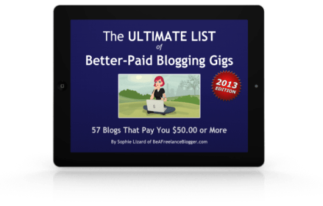 The Ultimate List of Better-Paid Blogging Gigs 2013 ipad image