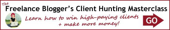 The Freelance Blogger's Client Hunting Masterclass banner