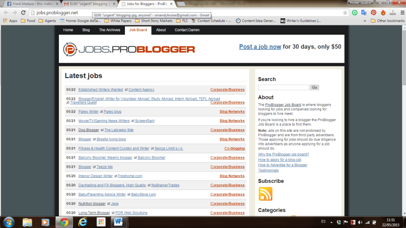 9 places to find blogging job ads that don't suck: Problogger
