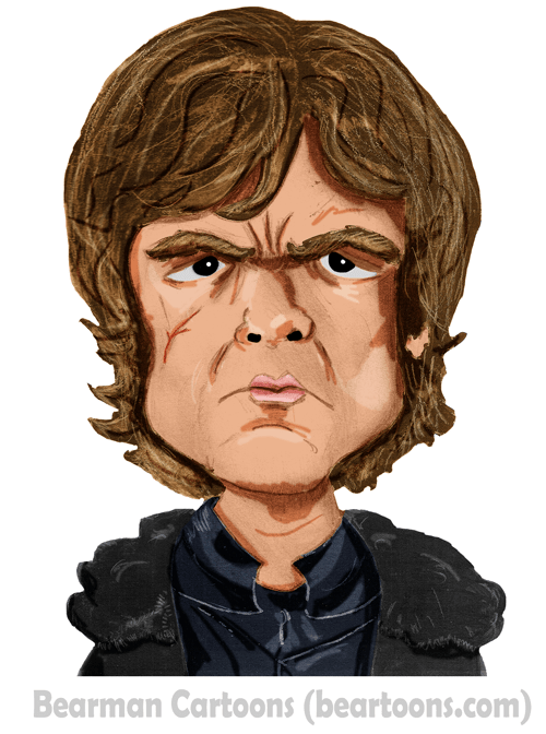 Tyrion Lannister Caricature Bearman Cartoons Peter Dinklage