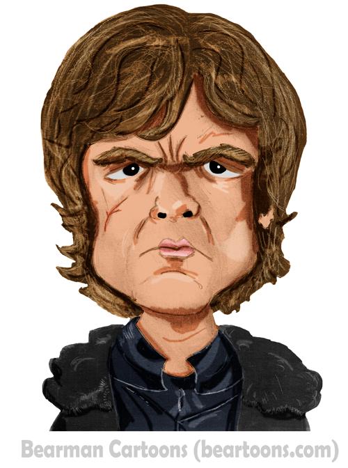 Tyrion Lannister Caricature Bearman Cartoons Peter Dinklage