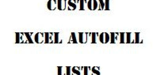 Custom Excel Autofill Lists thumb