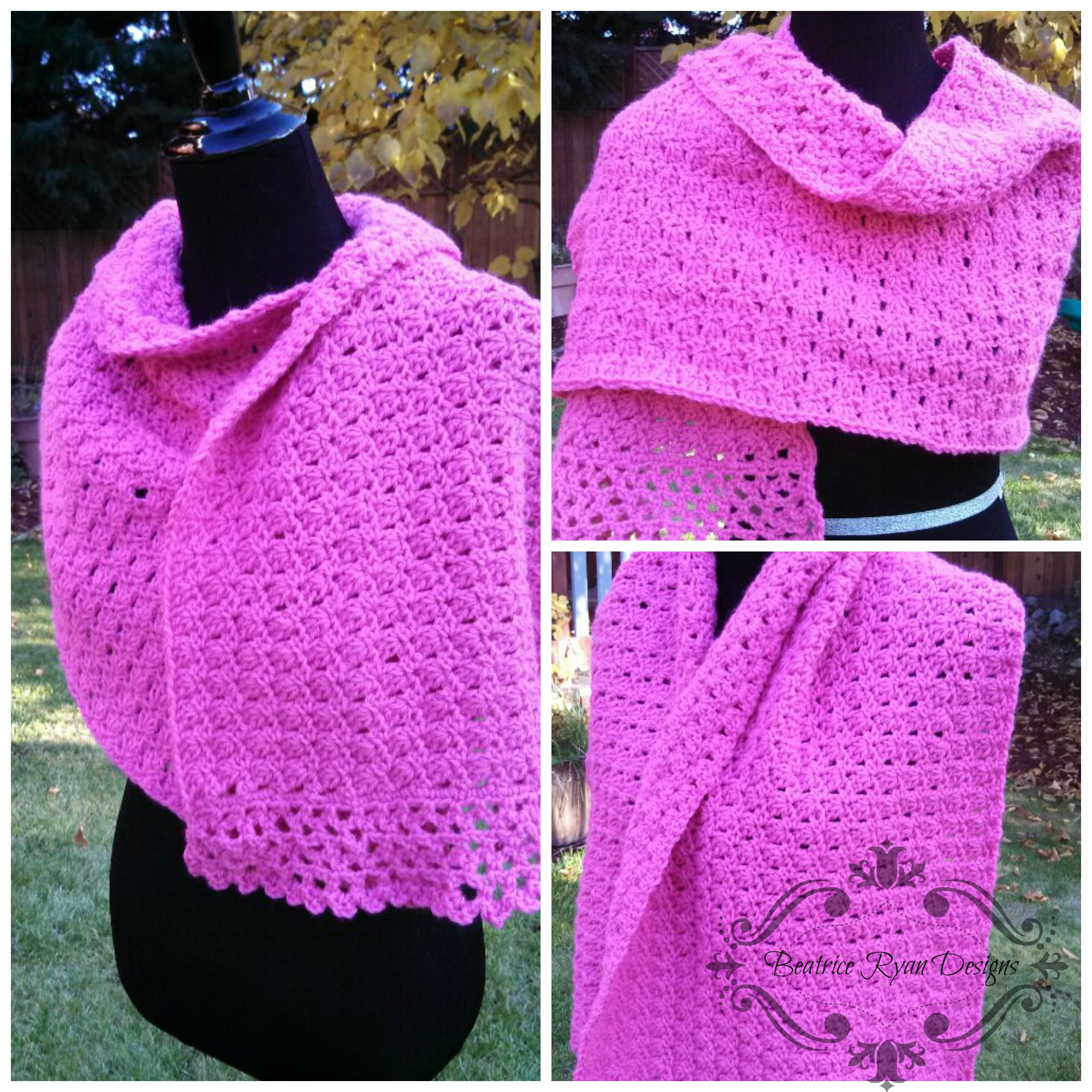 Free Easy Crochet Patterns For Prayer Shawls : Amazing Grace Prayer Shawl- Free Crochet Pattern