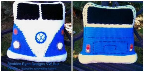 vw bus pillow
