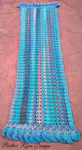 Midnight Breeze Shawl length