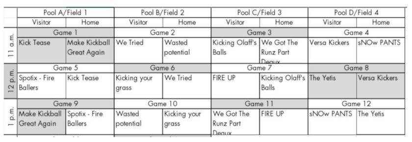 kickball teams for web