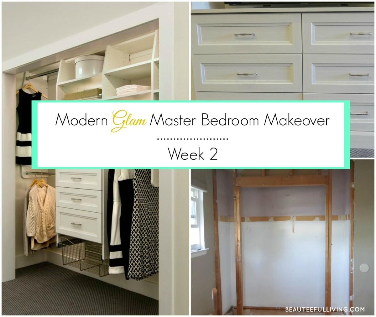 Modern Glam Master Bedroom Makeover - ORC Week 2