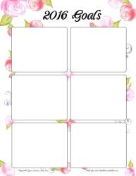 Free Floral Goal Setting Printable