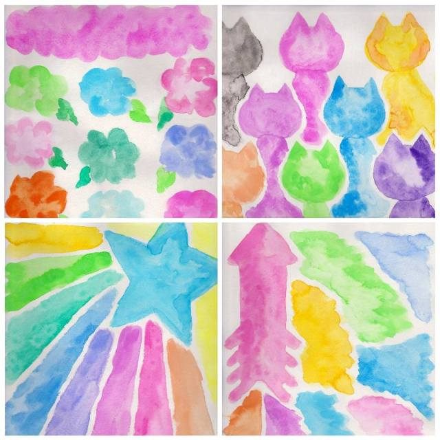 My Cancer Artwork: Watercolor Blobs