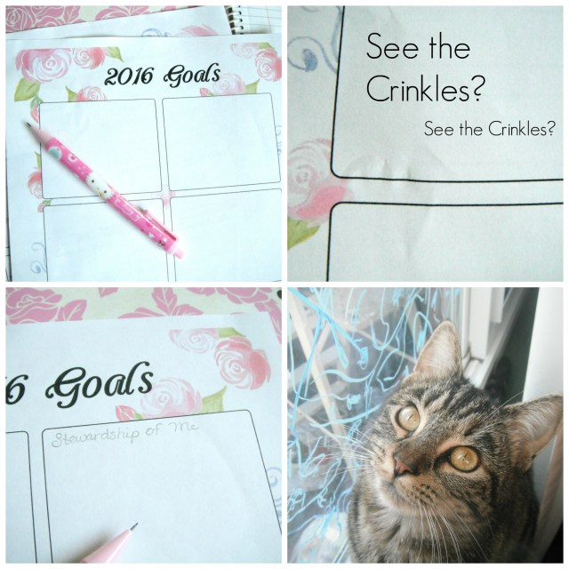 Free Floral Goal Setting Printables and cute kitty!
