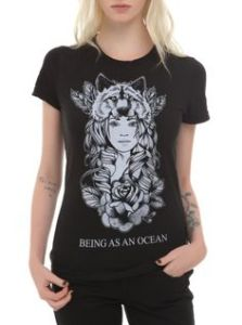 being as an ocean wolf girl shirt