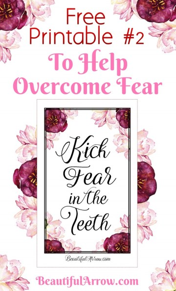 Have fears in your life? Love flowers? Come download a free beautiful printable to help in overcoming fear!