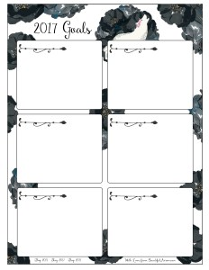 Free Download - White Wolf and Black Roses 2017 Goal Setting Worksheet