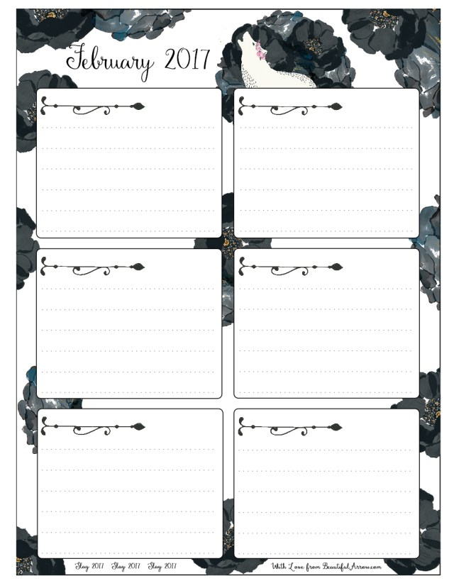 Free Download: White Wolf and Black Roses 2017 Goals Worksheet