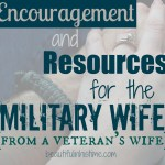 Encouragement and resources for the military wife