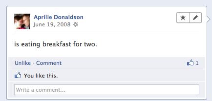 Facebook pregnancy announcement