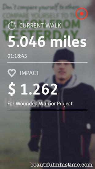 walking 5 miles