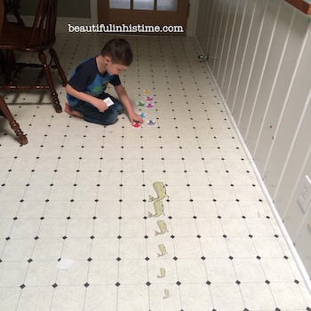 14 preschool on his own