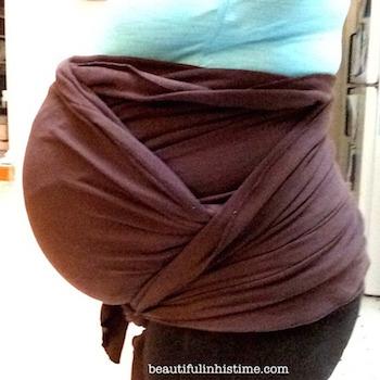 38 weeks belly wrap